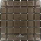 "Illusion Glass Tile - Mink - 1 7/8"" x 1 7/8"" Glass Mosaic Tile in Mink"