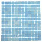 Vidrepur - Anti-Slip - Recycled Glass Tile Mesh Backed Sheet in Fog Turquoise Blue Slip-Resistant