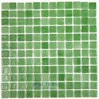 Vidrepur - Anti-Slip - Recycled Glass Tile Mesh Backed Sheet in Fog Green Slip-Resistant