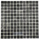 Vidrepur - Nieblas - Recycled Glass Tile Mesh Backed Sheet in Fog Black