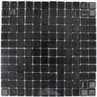 Vidrepur - Lisos - Recycled Glass Tile Mesh Backed Sheet in Black