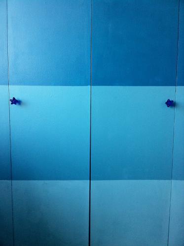 Glass Kitchen Bathroom Cabinet Knob Nickel Finish Blue Green Amber